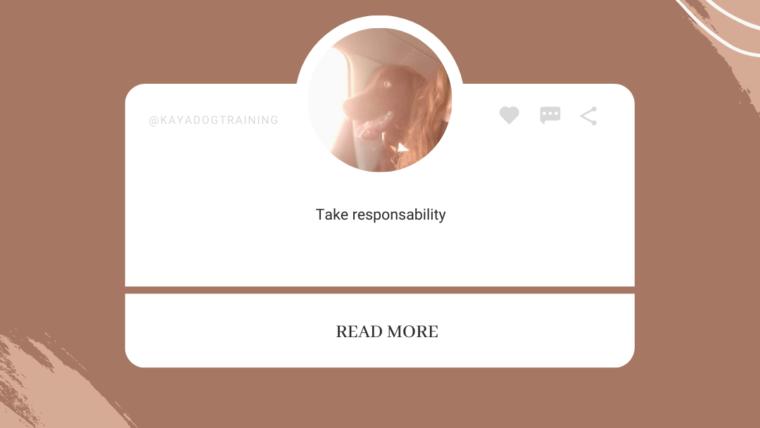 Toma responsabilidad